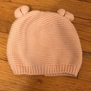Baby Gap 6-12 month bunny ear pink hat